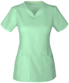 Buy Cherokee Code Happy Female V-Neck Top - Certainty by Cherokee Code Happy at great prices in the UK from Work in Style - high quality healthcare uniforms in various colours and sizes. Dental Uniforms, Healthcare Uniforms, Staff Uniforms, Scrubs Pattern, Medical Scrubs, Nursing Clothes, Womens Fashion For Work, V Neck Tops, Blouse