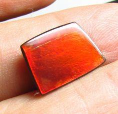 Natural RED Ammolite 3.80 ct Free-Form Gemstone 10 x 14 mm New 2015 Tucson Shows #JewelsRoughGems