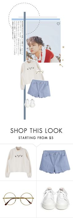 """""""Blue sky."""" by rocio-kim ❤ liked on Polyvore featuring GET LOST, Retrò and Ash"""