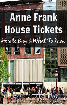 Planning on visiting the Anne Frank House in Amsterdam? Here are some useful tips and everything you need to know about buying Anne Frank House tickets. Amsterdam Houses, Visit Amsterdam, Amsterdam City, Amsterdam Travel, Amsterdam Info, Anne Frank Amsterdam, Amsterdam Food, European Vacation, European Travel