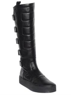 40MM HIGH BIKER LEATHER BOOTS