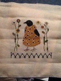 """How cute is this?!  Check out this site """"Bookwoman""""  I especially like her completed stitching of Winter by Cricket - beautiful!"""