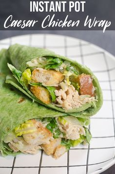 These instant pot caesar chicken wraps are light and great for warmer weather. Perfect for picnics, potlucks, or wrap trays for larger events. Pressure Cooker Chicken, Instant Pot Pressure Cooker, Pressure Cooker Recipes, Pressure Cooking, Chicken Wraps, Ip Chicken, Chicken Ideas, Chicken Curry, Sandwiches