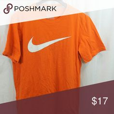 """MENS NIKE ORANGE BASE LAYER T-SHIRT LARGE SIZE:     LARGE   ARMPIT - TO - ARMPIT:     21""""   LENGTH DOWN BACK:     28""""   STYLE:     BASIC T   MATERIAL:     100% COTTON    CONDITION:        BRAND NEW WITHOUT TAGS. SOURCED DIRECTLY FROM A NATIONAL UPSCALE U.S. RETAILER. QUALITY AND AUTHENTICITY GUARANTEED! Nike Shirts Tees - Short Sleeve"""