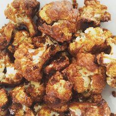 Cauliflower in a spicy peanut sauce #lowcarb #cauliflower #glutenfree #eatrealfood