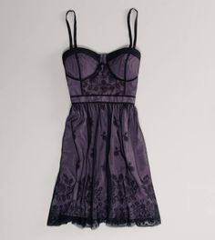 AE Embroidered Mesh Corset Dress | American Eagle Outfitters