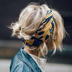 Avec la chaleur cette petite coiffure est parfaite pour l'été ! En plus on adore le foulard pas vous? #doctipharma #coiffure #summer #hairstyle