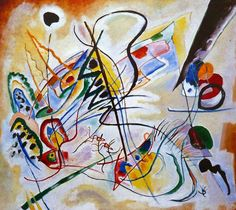 "Wassily Kandinsky. Violet Wedge, 1919 Oil on canvas 23.6 × 26.4"" (60.0 × 67.0 cm) Tyumen . Russia. The museum complex of the Tyumen region"