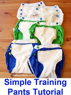 simple training pants tutorial how to make training underwear training underwear tutorial Cloth Training Pants, Toddler Training Pants, Potty Training Pants, Toddler Pants, Toddler Outfits, Kids Outfits, Baby Sewing Tutorials, Sewing Patterns For Kids, Sewing Blogs