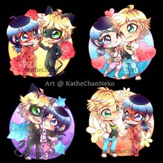 I haven't posted antydning in a long time~ So here are more Ladybug fanart~   #adrien #fanart #ladrian #drawing #fanartfriday #chibi #myart #ladynoir #marichat #miraculousladybug #marinette #adrinette #chibis