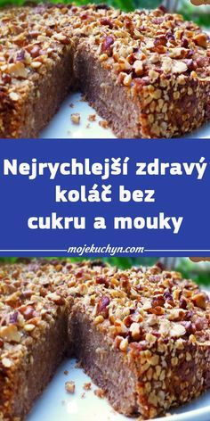 Lactose Free, Gluten Free, Czech Recipes, Sugar Free, Banana Bread, Cake Recipes, Cheesecake, Food And Drink, Low Carb