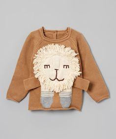 Brown Lion Sweater - Infant, Toddler, & Girls