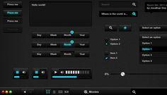 Up for grabs is a free PSD UI kit designed by Alex Patrascu. The file is fully . Ui Elements, Design Elements, Mobile Ui Patterns, Ui Design Inspiration, Ui Web, Time Design, User Interface Design, Photoshop Design, Web Design