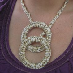 Super easy necklace by mollymade, via Flickr