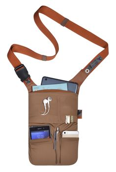 """slotBar: It is handy, small and light-weight, but still offers enough room for all important gadgets. Its A5-sized main pocket accommodates tablets and eBook readers up to 7"""". The separate pockets in the front can hold a mobile phone, wallet, keys and pens. There is also a zippered pocket in the back, where documents can be kept safe. slotBar is available in eight different colours. #urbantool #slotbar #hipbag #tablet #bag #shoulderbag #travel #leisure"""