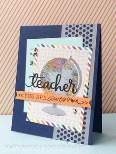 Teacher Thank You Card Handmade Teachers Day Cards, Teacher Thank You Cards, Arts And Crafts, Paper Crafts, Scrapbook Cards, Scrapbooking, Teachers' Day, You Are Awesome, Cute Cards