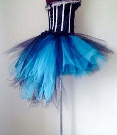 Burlesque Moulin Rouge Peacock Turquoise Black Bustle Skirt Please Select Size At Checkout