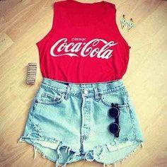 Coca Cola shirt with a cute short
