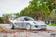 This custom widebody Porsche Cayman is truly insane!