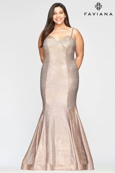 Faviana 9491 Long Plus Size Mermaid Prom Dress | The Dress Outlet Plus Size Long Dresses, Plus Size Gowns, Mermaid Skirt, Mermaid Prom Dresses, Formal Gowns, Strapless Dress Formal, Formal Prom, Top Dress Designers, One Shoulder Prom Dress