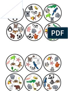 Animals Dobble PDF Alphabet Activities Kindergarten, Phonics Activities, Math Games, Activities For Kids, English Games, English Activities, Animals Name In English, Shape Games, Player Card