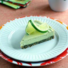 Raw Key Lime Pie is grain free and paleo friendly! Vegan.