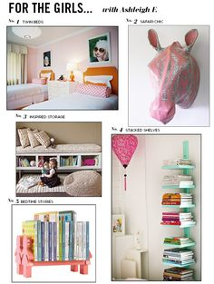 pinterest DIY  hanging beds | ... . love, love, love the pictures of the girls hanging above their beds