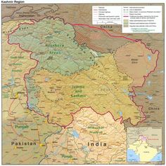 Map of Kashmir.