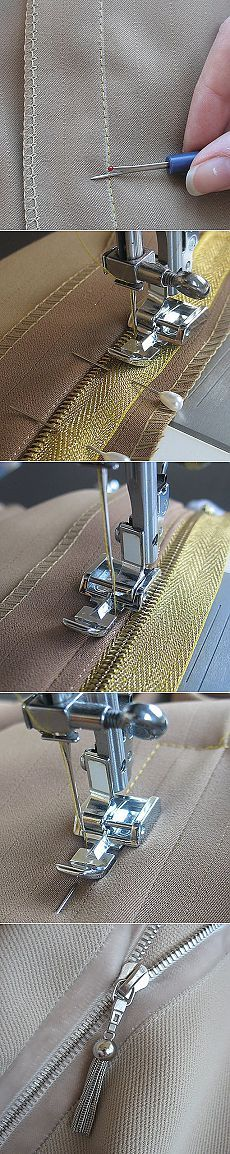 How carefully, beautifully and simply sew & quot; zipper & quot; (Not hidden) ..