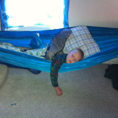 out in seconds, our sensory kids now sleep in hammocks