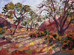 Zion National Park Painting - Summer Zion by Erin Hanson