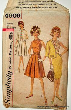 I made them! 60s Patterns, Simplicity Patterns, Vintage Sewing Patterns, Thankful, Prints, Primitive Patterns
