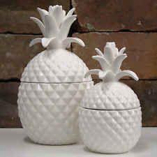 Set of Two Pineapple Storage Jars