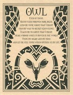 OWL Evocation Parchment Book of Shadows Page or Poster! in Collectibles | eBay