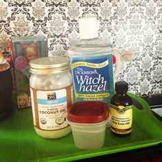 Made my very own dog ear wash. After looking at the all natural ear cleaners at pet shops I realized its so easy to make. The one I was going to buy had this in it so I made it instead. It was over 25$ for a small bottle. Water, witch hazel (if you're getting generic make sure to read cause its usually more percentage of alcohol than WH) melted coconut oil, a couple drops of tea tree oil depending on how strong yours is. & there you go! Your dogs ears will smell good too!