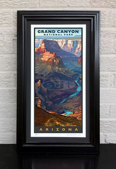 Grand Canyon travel art vacation poster print painting - pinned by pin4etsy.com