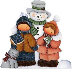 Photos pour le découpage: bonhomme de neige pour le découpage