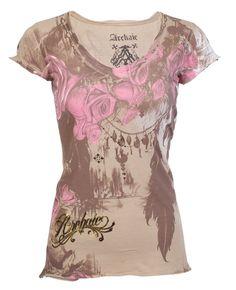 Archaic AFFLICTION Women T-Shirt BEAUTY Roses Tattoo Biker UFC Sinful S-XL $40 b | Clothing, Shoes & Accessories, Women's Clothing, T-Shirts | eBay!