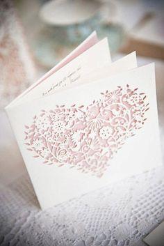 10 Of The Best Laser Cut Wedding Invitations - Quince - Mariage Heart Wedding Invitations, Wedding Stationary, Wedding Invitation Cards, Wedding Cards, Wedding Events, Our Wedding, Dream Wedding, Wedding Ideas, Invites