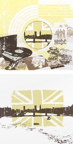 The Kinks - Waterloo Sunset Book design and illustrations, 'Vertaliaans Liedboek', De Roos, 2009