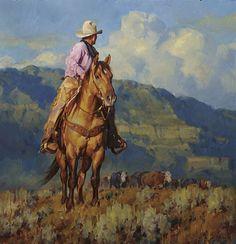 """The Trailherd"" by Jason Rich (Cowboy Artist) Cowboy Pictures, Cowboy Images, Native American Art, American Women, American Indians, American History, West Art, Equine Art, Wildlife Art"