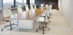 eRange Boardroom Table Industrial Home Offices, Industrial House, Boardroom Furniture, Office Furniture, Walnut Veneer, Wood Veneer, Conference Room Design, Breakout Area, Meeting Table