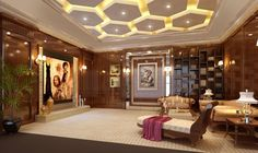 Ceiling Design Ideas -- Luxury ceiling with custom lighting