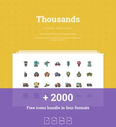 2000 Free Colored and Wired Icons