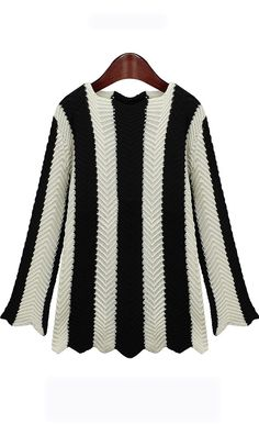 Black and white striped sweater,nice