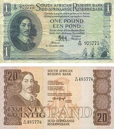 Union and Apartheid-era South African money featuring Jan van Riebeck. He is no longer featured on South African money, which MIGHT have something to do with the fact that he begged the Dutch East India Company to let him enslave the natives. Cape Colony, Dutch East Indies, History Online, Kwazulu Natal, Old Money, My Land, African History, Coin Collecting, The Good Old Days