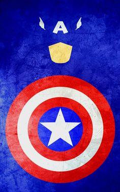 superhero minimalist posters: captain america