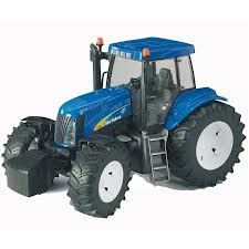 Idena Traktor mit Anhänger Schlepper Bauernhof Farm Spielzeug Auto 28 cm