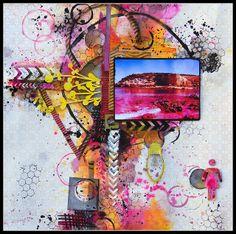 #papercraft #scrapbook #layout Top 5 Scrapfriends colour challenge Fiona Paltridge