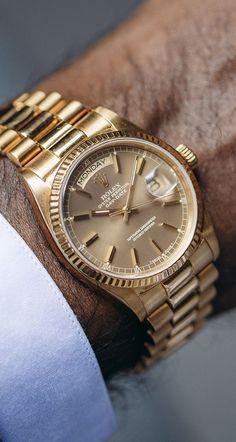 Vijay Amritraj's Rolex Day-Date. Vijay Amritraj's Rolex Day-Date. Rolex Watches For Men, Seiko Watches, Luxury Watches For Men, Cool Watches, Mens Designer Watches, Mens Watches Leather, Gold Rolex, Rolex Datejust, Cartier Rolex
